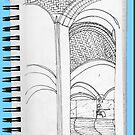 NYC Vaults of a restaurant under the Queen's Borough Bridge by James Lewis Hamilton