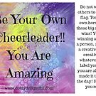 Be your own cheerleader advice by Ruby Coupe