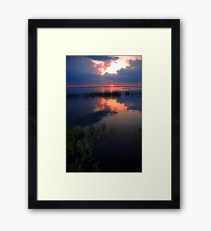 Pretty Reflection over the Water Framed Print
