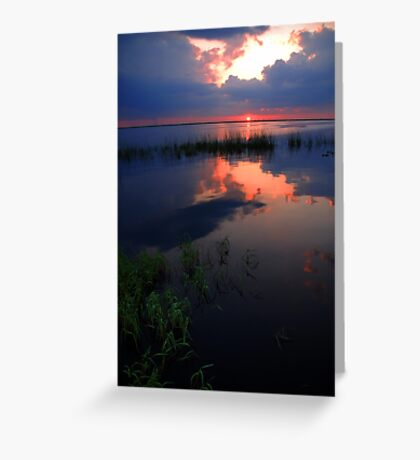 Pretty Reflection over the Water Greeting Card