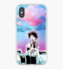 Blue and Pink Izuku Midoriya iPhone Case