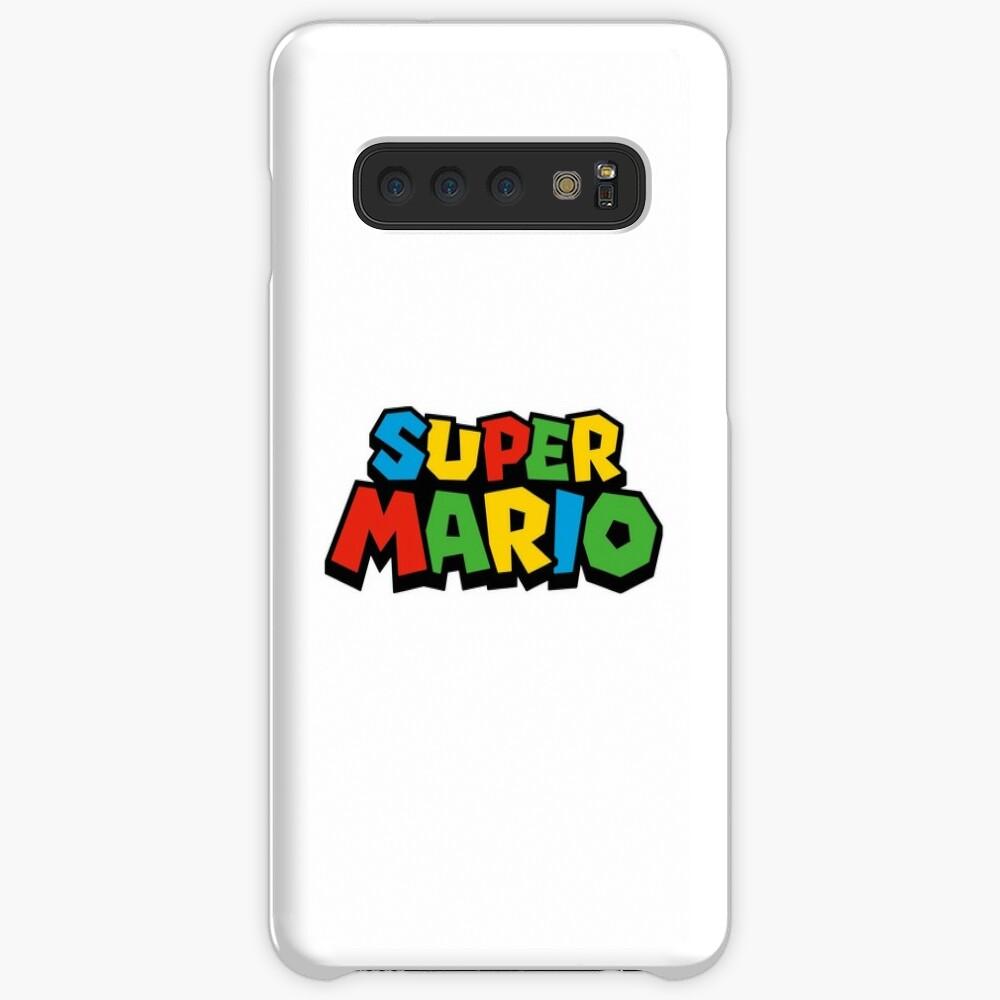 Super Mario Logo Funda y vinilo para Samsung Galaxy
