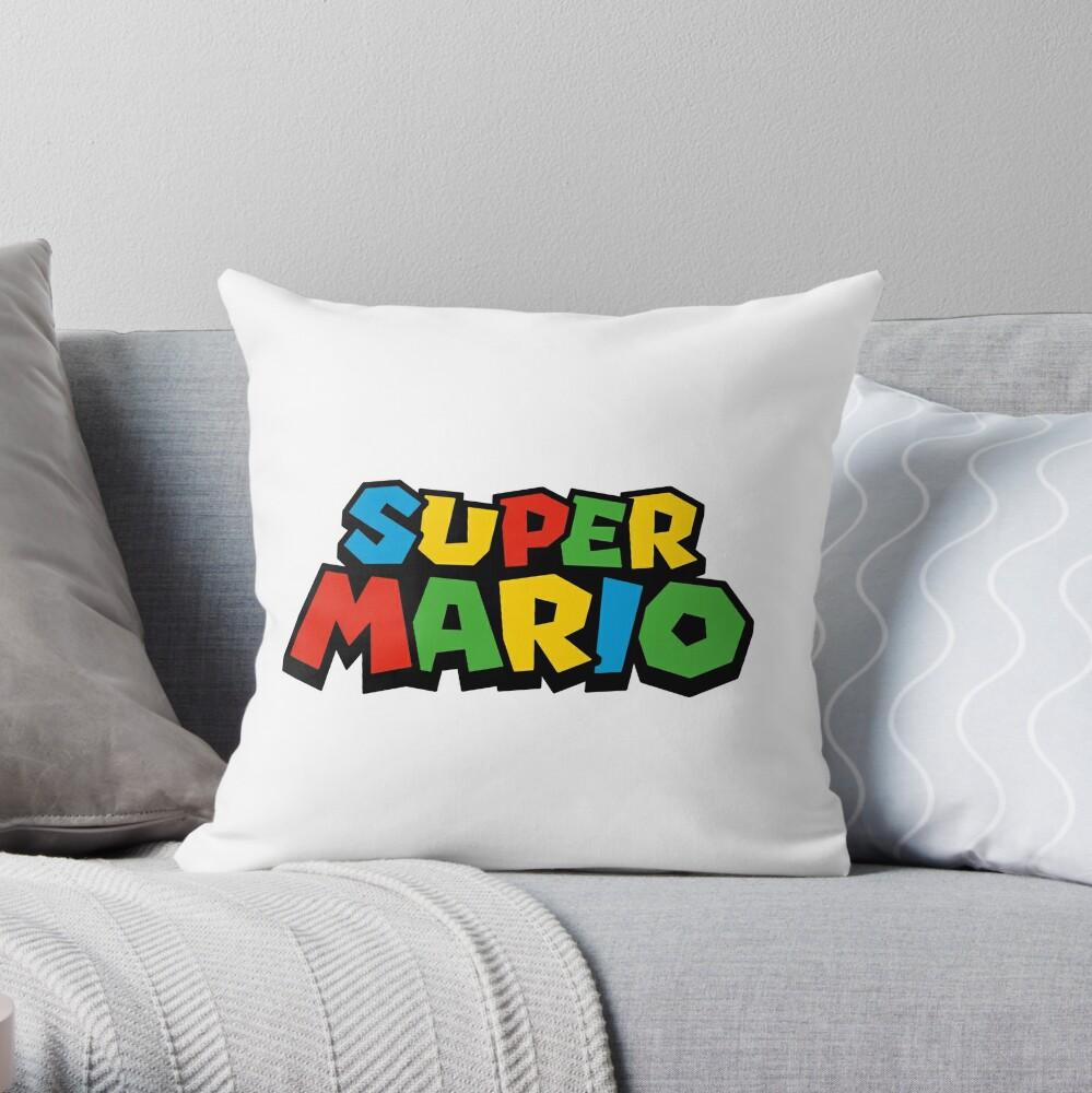 Super Mario Logo Cojín