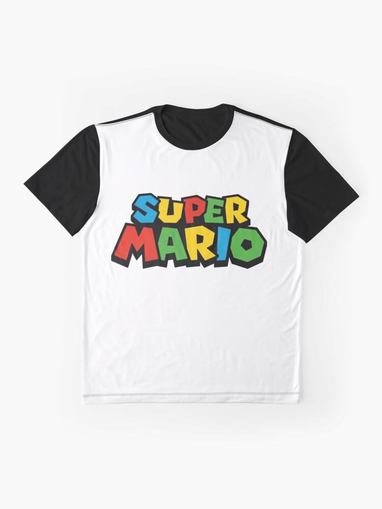 Vista alternativa de Camiseta gráfica Super Mario Logo