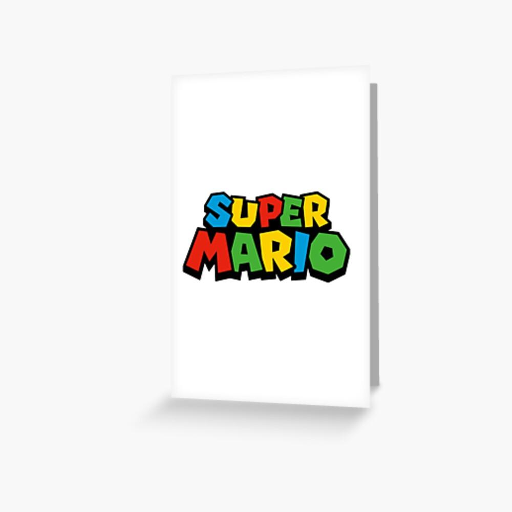 Super Mario Logo Tarjetas de felicitación