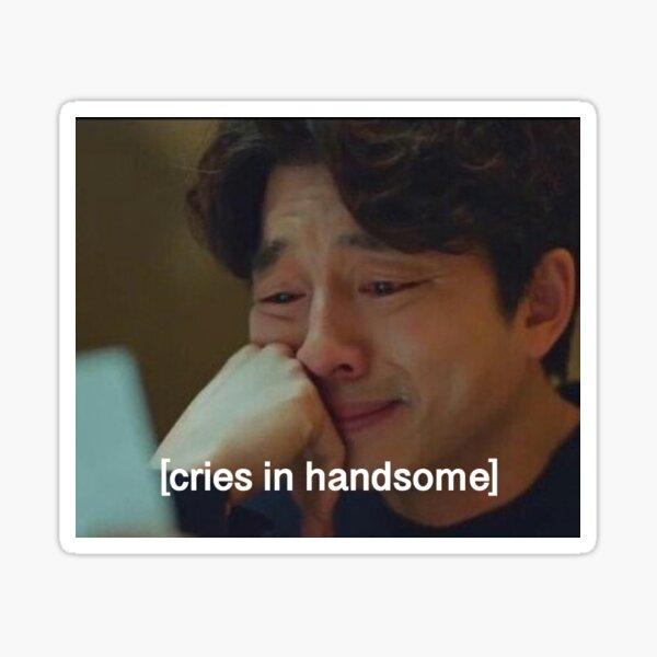 Cries in Handsome Sticker