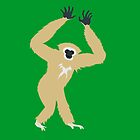 Gibbon on Green by PepomintNarwhal