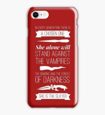 Buffy the Vampire Slayer - Chosen One iPhone Case/Skin