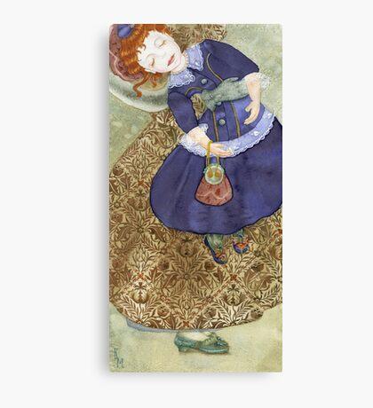 Watercolour, pattern William Morrris-Indian Diaper. Canvas Print