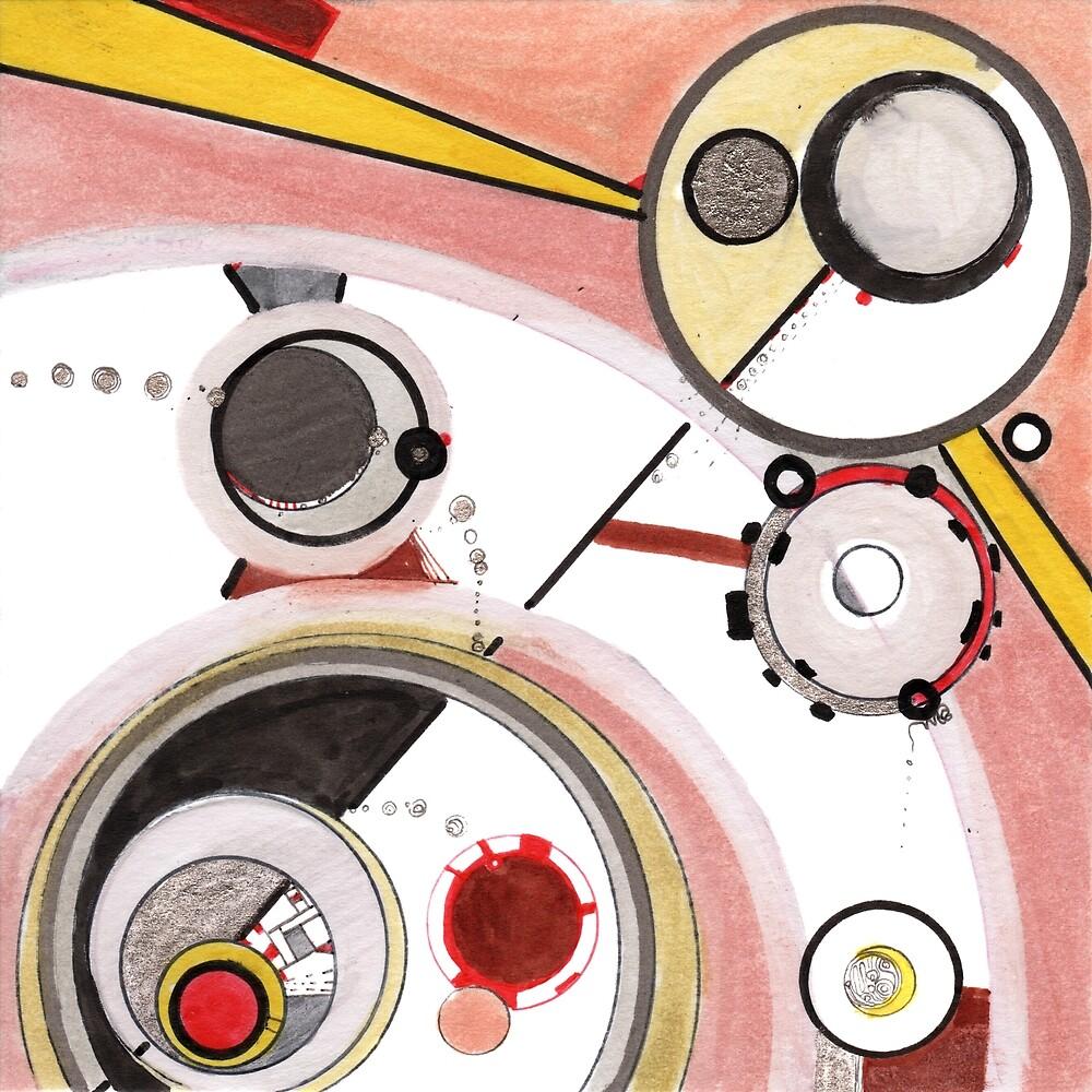Mechanics of Modernity, Ink drawing by Regina Valluzzi