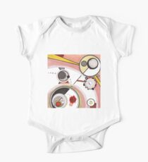 Mechanics of Modernity, Ink drawing Short Sleeve Baby One-Piece