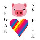 Proud to be vegan for the animals by Ruby Coupe