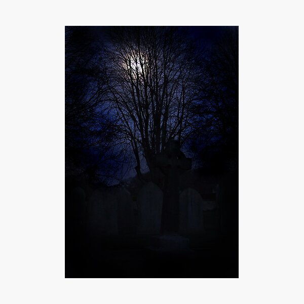 Midnight graveyard Photographic Print