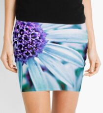 Floral Symphony in Purple Mini Skirt