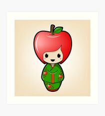 Apple Kokeshi Doll Art Print