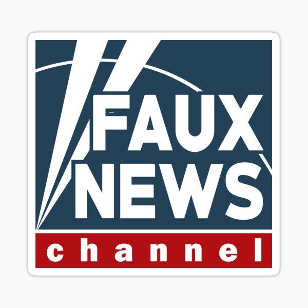 Faux News Channel Sticker