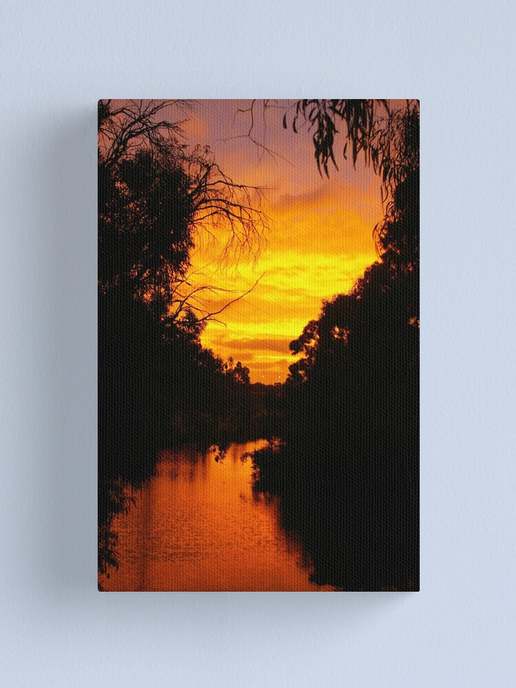 Alternate view of January's Last Moments Of Daylight Canvas Print