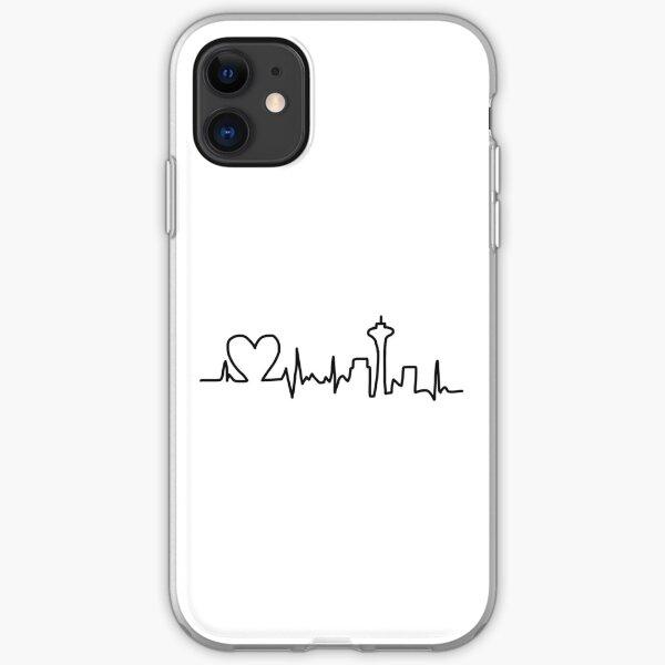 Heart Beat Skyline  iPhone Soft Case