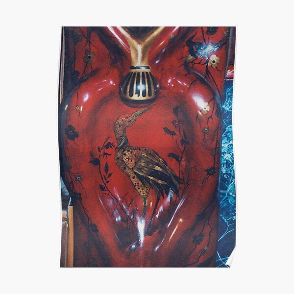 #Pottery #Heron, #bird, #painting, #art, #colorimage, #modernart, # ancient, #spirituality Poster