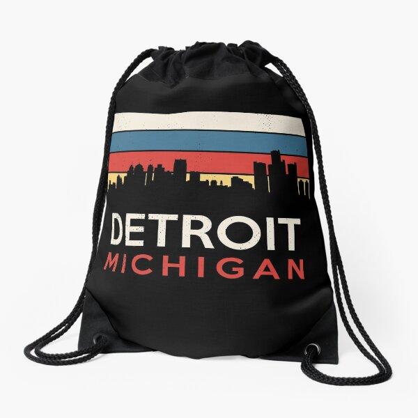 Detroit Michigan Retro Vintage Souvenir Tourist Souvenir Drawstring Bag
