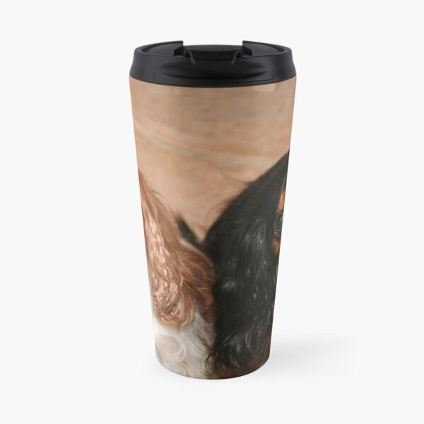 Brother and Sister ~ Cavaliers King Spaniels Travel Mug