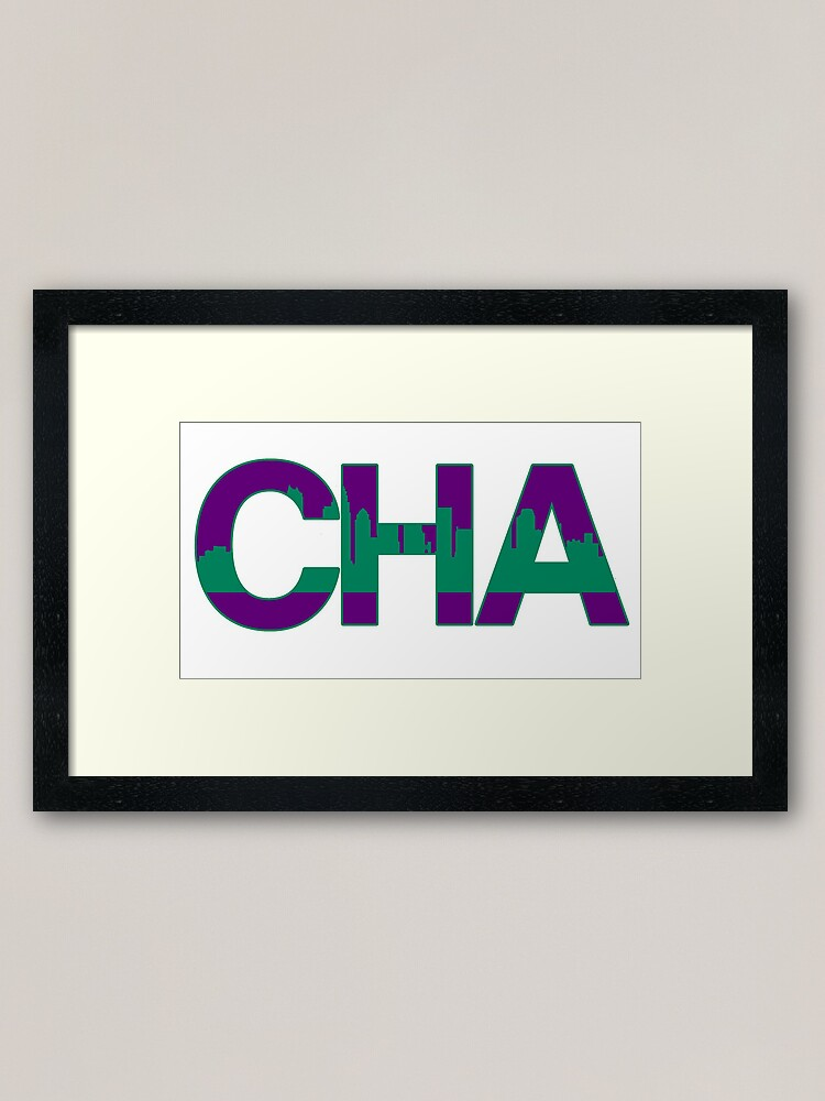 Charlotte Hornets Skyline Framed Art Print By Dextergt Redbubble