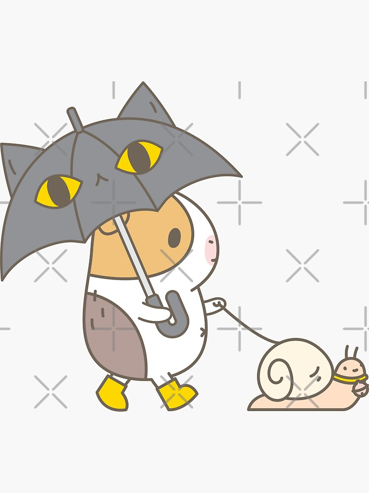 Bubu the Guinea pig, Rainy Day  by Miri-Noristudio