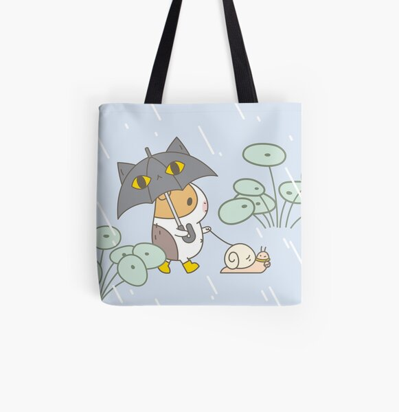 Bubu the Guinea pig, Rainy Day  All Over Print Tote Bag
