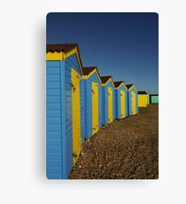 Beach Huts at Littlehampton Canvas Print
