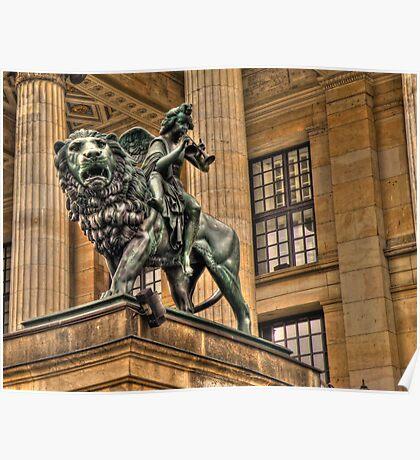 Impressive Statue In Berlin Germany Poster