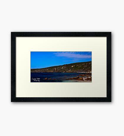Canal Rocks Framed Print