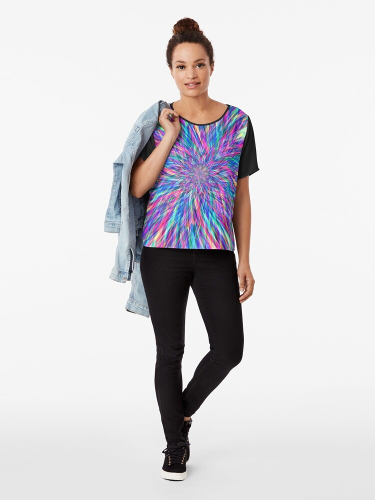 Alternate view of Tye Dye Chiffon Top