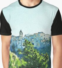 View of the village of Scalea Graphic T-Shirt