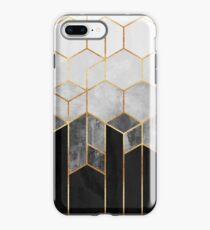 Charcoal Hexagons iPhone Case