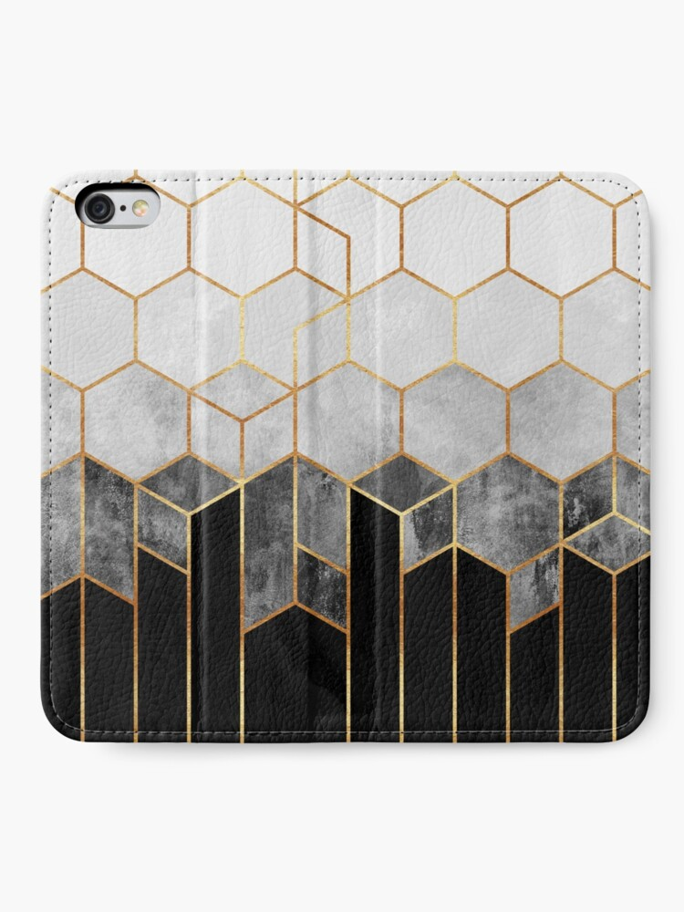 Alternate view of Charcoal Hexagons iPhone Wallet