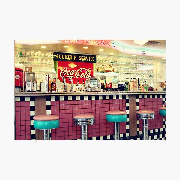 retro diner Photographic Print
