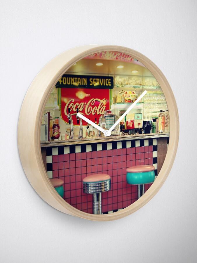 Alternate view of retro diner Clock