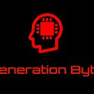 Red image and text Generation Byte logo by GenerationByte