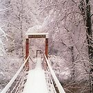 Old Mill Park Swinging Bridge by Kent Nickell
