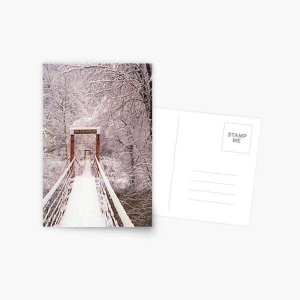 Old Mill Park Swinging Bridge Postcard