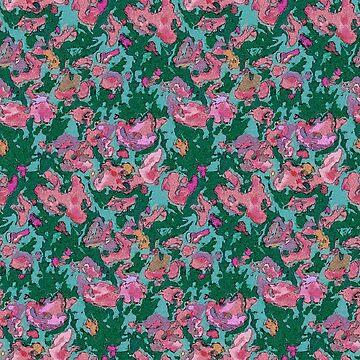 Flower Garden Abstract Watercolor by Missman