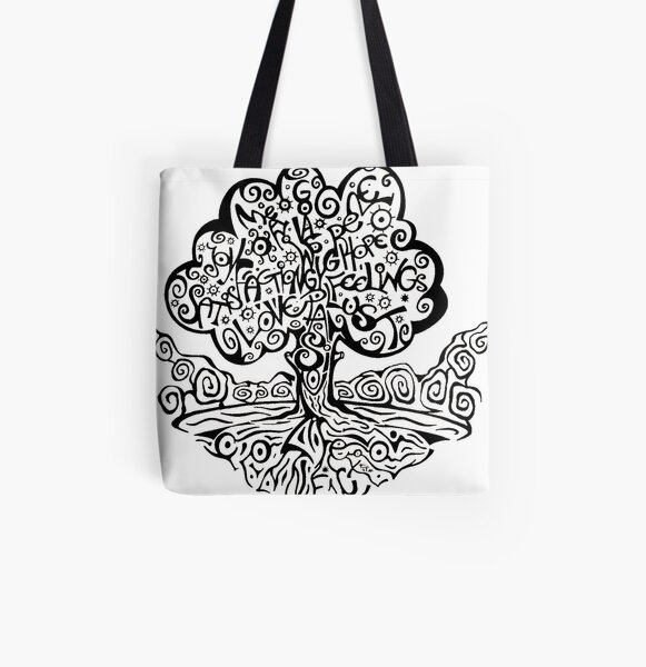My Tree of Life Allover-Print Tote Bag