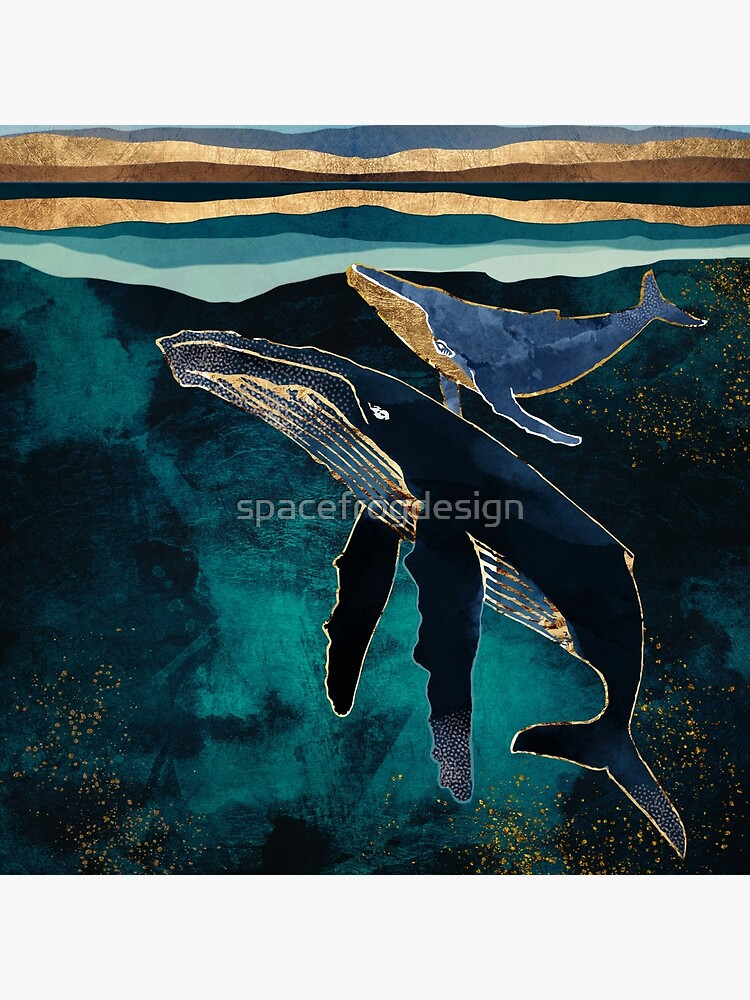 Moonlit Whales by spacefrogdesign
