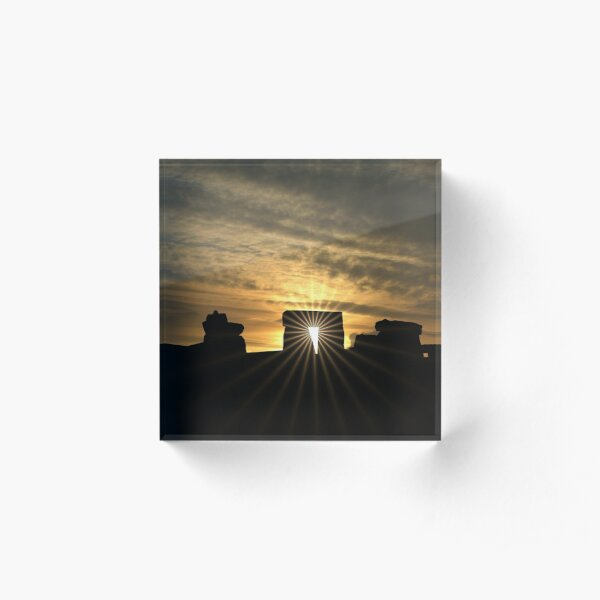 Stonehenge Sunset Acrylic Block