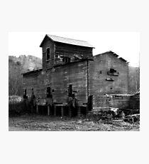 BW Old Barn Photographic Print