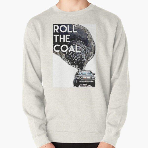 Enrollar el carbón Sudadera sin capucha