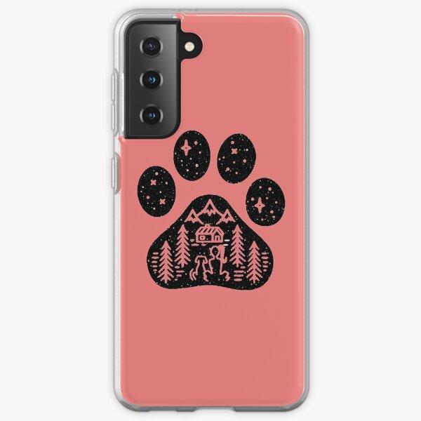 Camping hiking climbing outdoors dog paw  Samsung Galaxy Soft Case