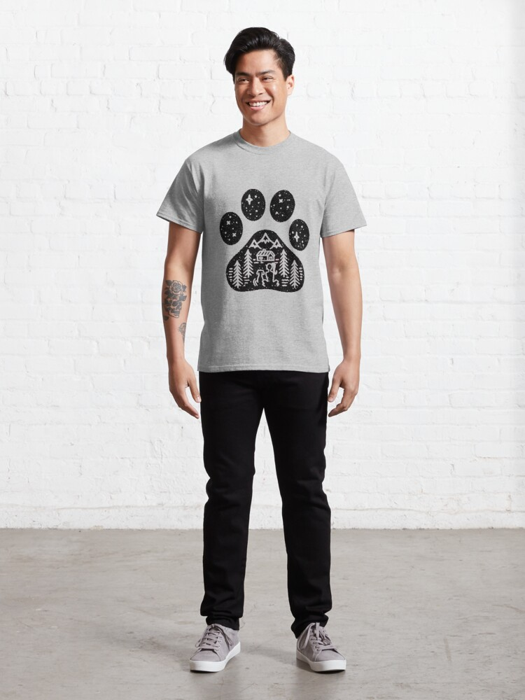 Alternate view of Camping hiking climbing outdoors dog paw  Classic T-Shirt