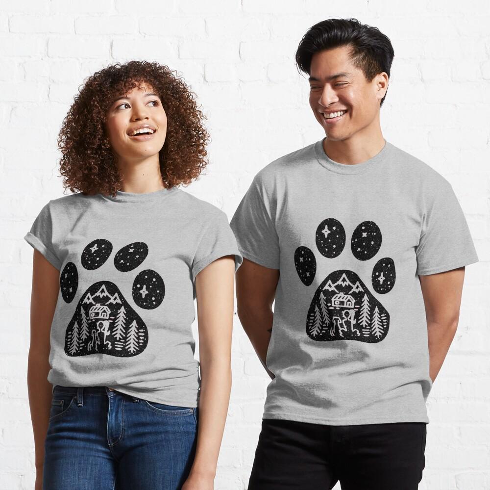 Camping hiking climbing outdoors dog paw  Classic T-Shirt