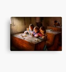 Teacher - Classroom - Education can be fun  Canvas Print